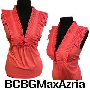 BCBGMaxAzria Pink Sleeveless Blouse Women's Small